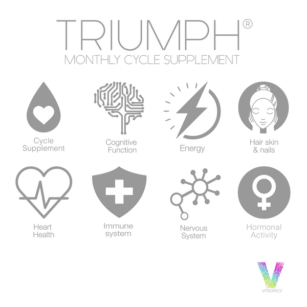 Triumph monthly cycle supplement health  benefits