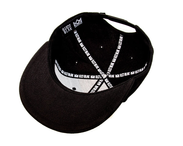 Illicit Blak on Black Initialed Snapback.