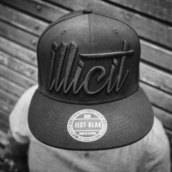 Illicit Blak on Black Signature Snapback.