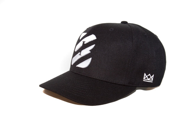 Illicit White on Black Initialed Snapback.