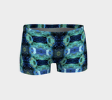 Abstract Ocean Yoga Shorts