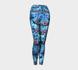 Lotus Flower Pattern Yoga Pants