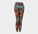 Flowers Overlap Pattern Leggings