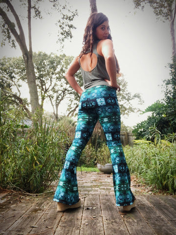 Waves Pattern Bell Bottoms