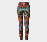 Flowers Overlapping Yoga Pants