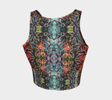 Flowers Overlap Pattern Crop Top