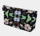 Butterfly and Fern Pattern Make-Up Bag