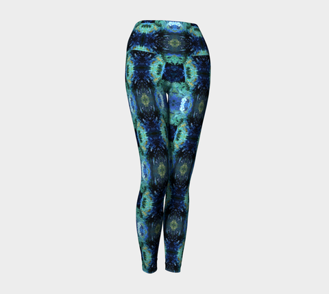 Abstract Ocean Yoga Pants