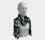Butterfly and Fern Pattern Scarf