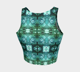Waves Pattern Crop Top