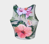 Hibiscus Print Crop Top