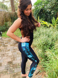 Waves Pattern Side Leggings
