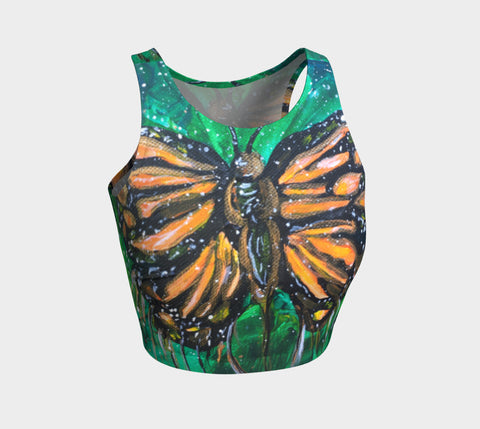Monarch Butterfly  Crop Top