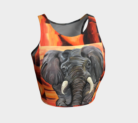 African Elephant Crop Top