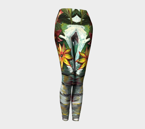 Floral Utopia Elephant Leggings