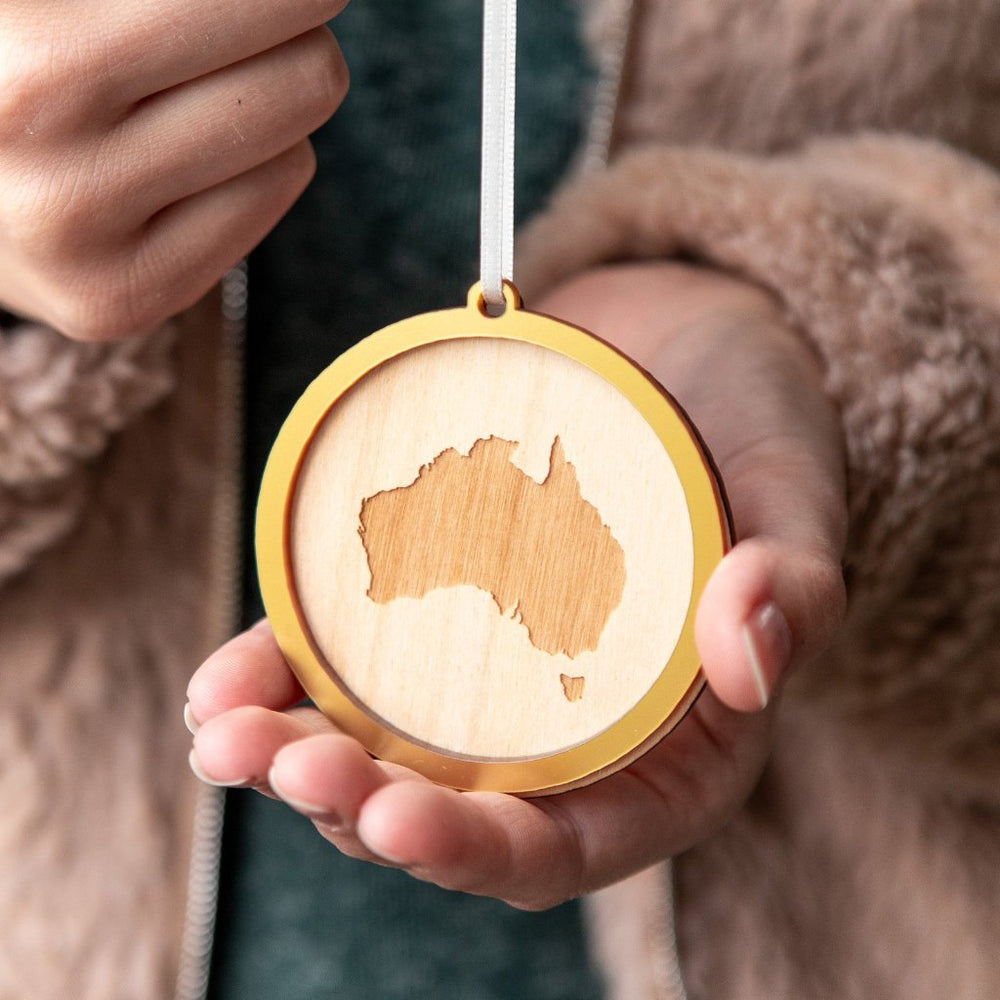 Christmas Country Map Bauble