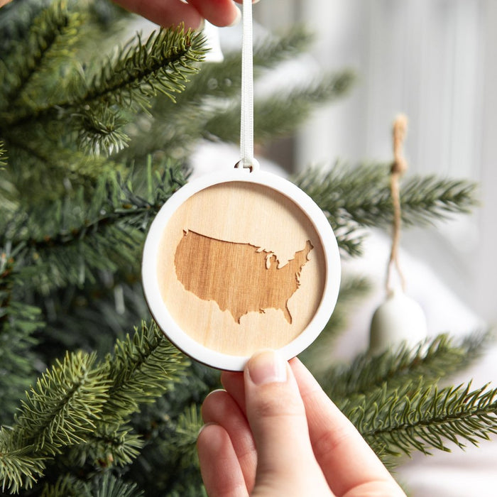 COUNTRY MAP CHRISTMAS BAUBLE-clouds-and-currents