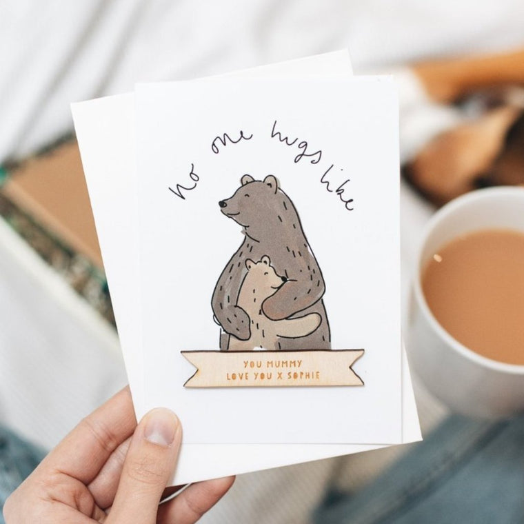 BEAR HUG MOTHER'S DAY CARD