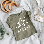 Personalised Kids Christmas Star Shirt