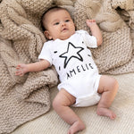 Personalised Christmas Star BabygrowClouds and Currents