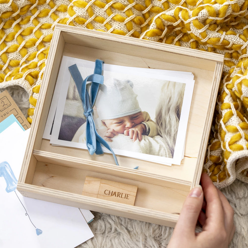 Personalised Photograph Wooden Keepsake BoxClouds and Currents