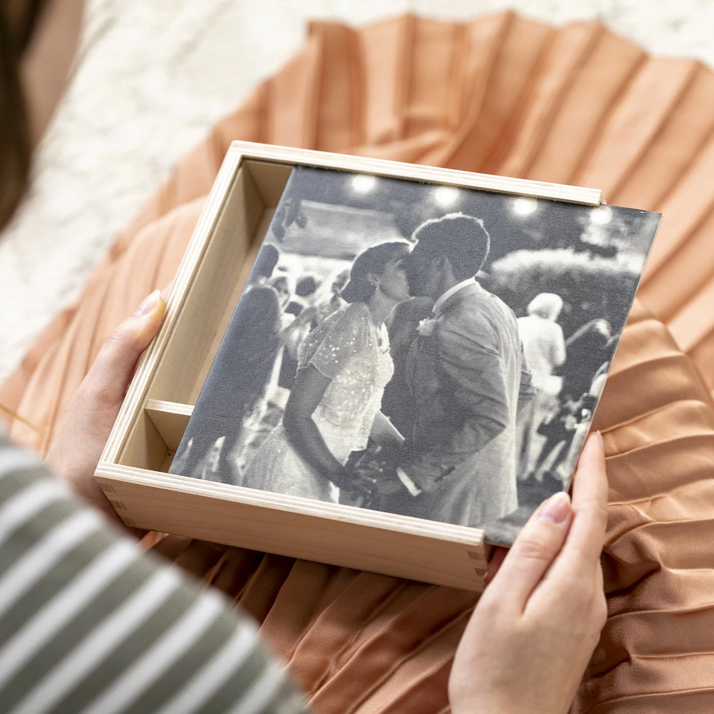 Personalised Wedding Photograph Keepsake BoxClouds and Currents
