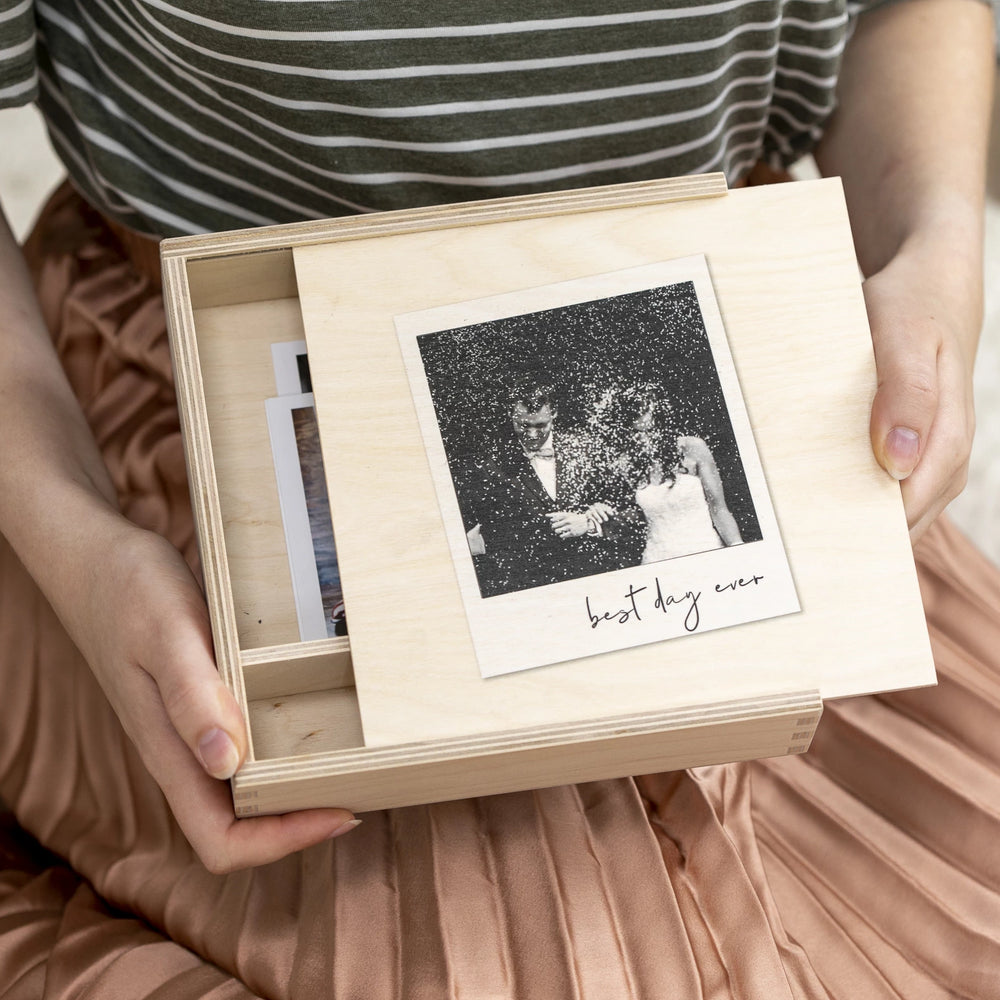 NEW Personalised Photo Wedding Memory BoxClouds and Currents
