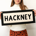 Personalised Location Fabric Wall Art Banner