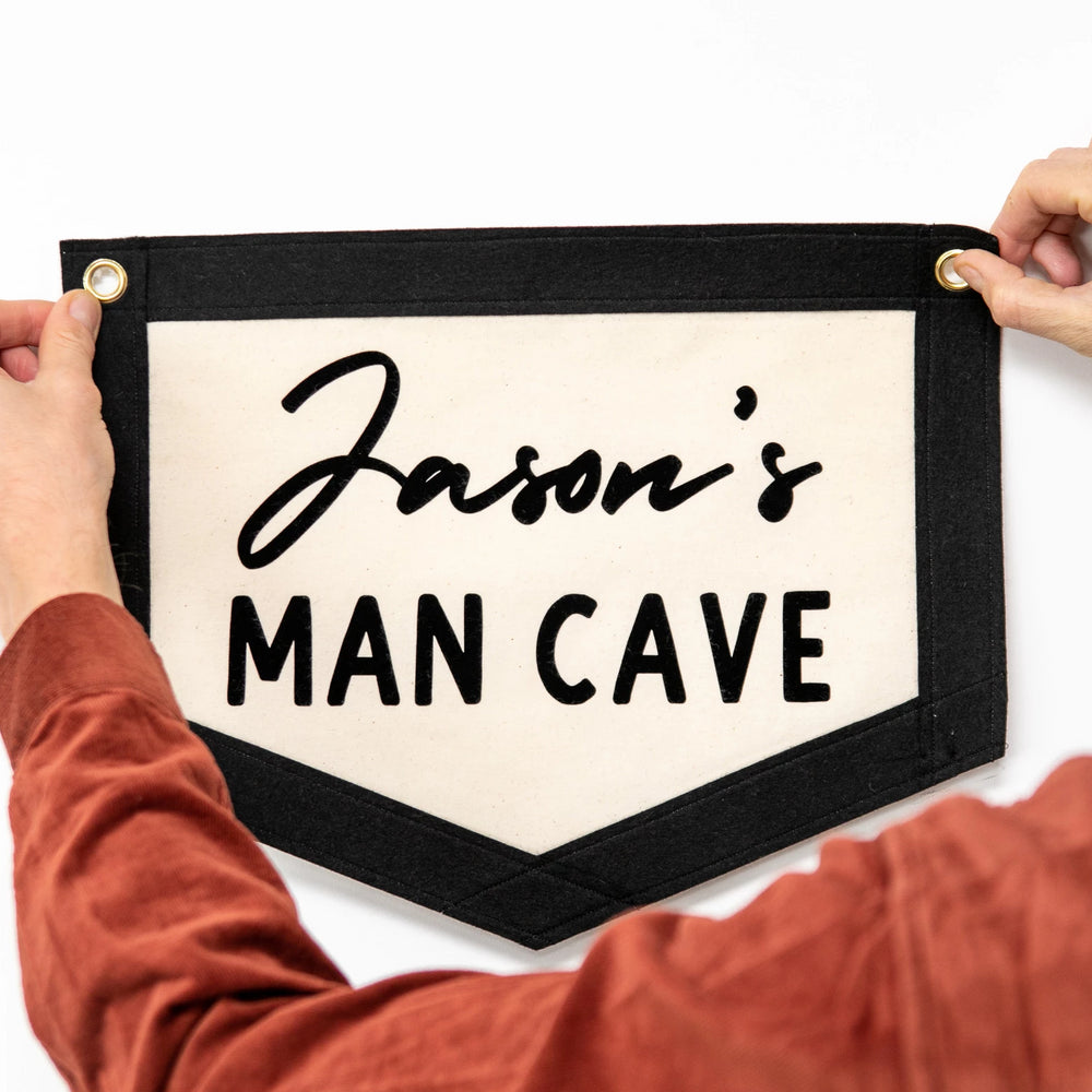 Personalised Man Cave Wall Art Banner