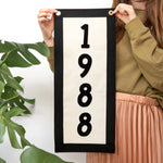 Personalised Year Fabric Wall Art BannerClouds and Currents