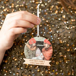 Personalised Christmas Family Photo BaubleClouds and Currents