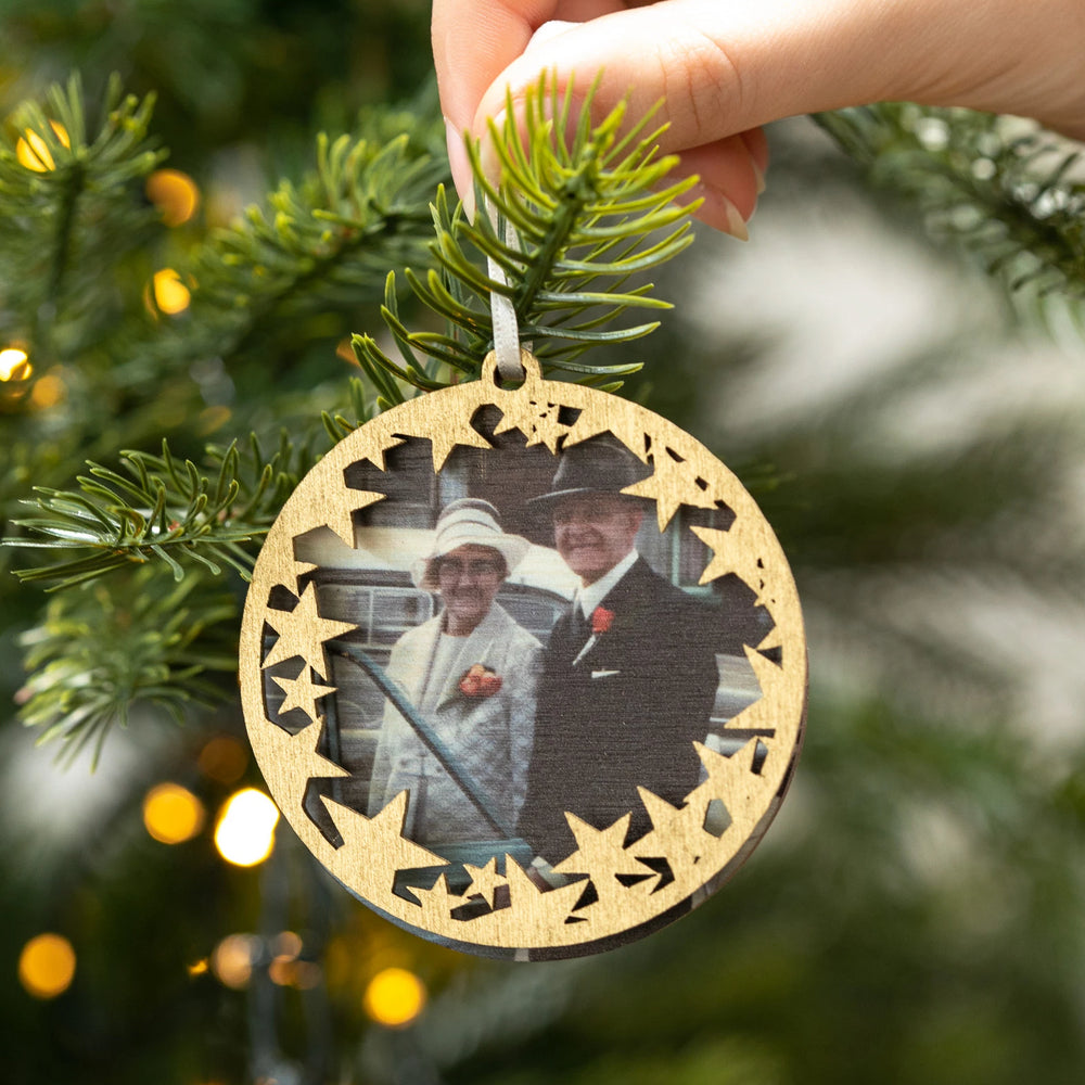 Personalised Christmas Memory BaubleClouds and Currents