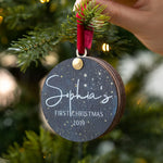 Personalised Luxury First Christmas BaubleClouds and Currents