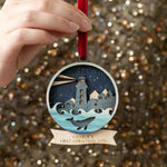 Personalised Luxury Winter Christmas DecorationClouds and Currents