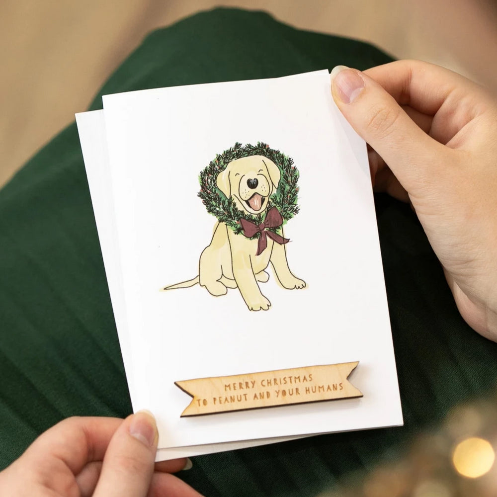 Personalised Labrador Dog Christmas CardClouds and Currents