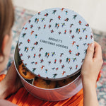 Personalised Winter Christmas Cake TinClouds and Currents