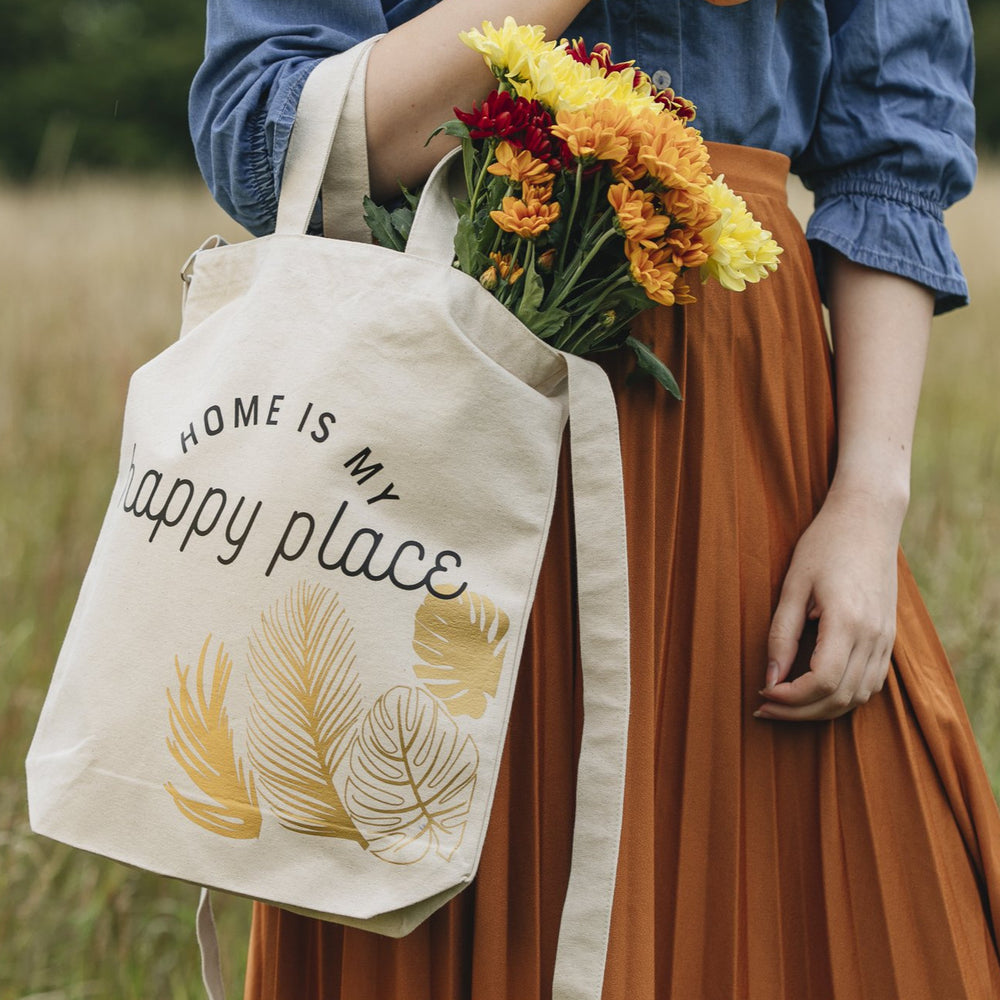 Home Is My Happy Place Tote Bag