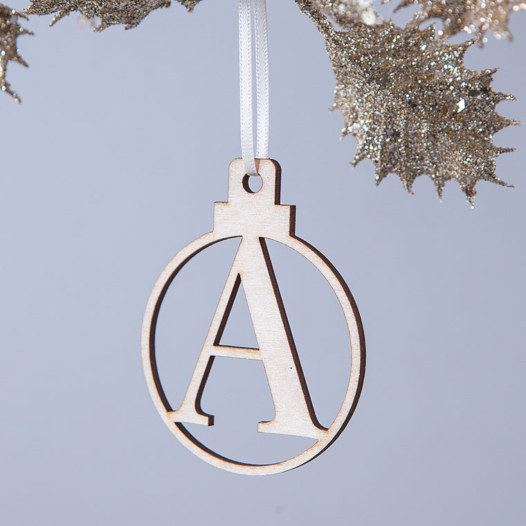 LETTER CHRISTMAS BAUBLE