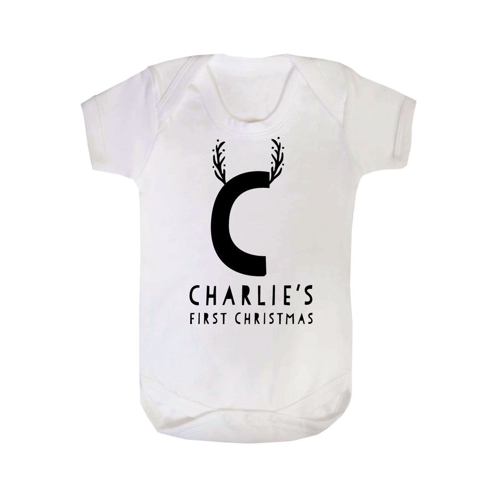 Personalised First Christmas Reindeer Bodysuit