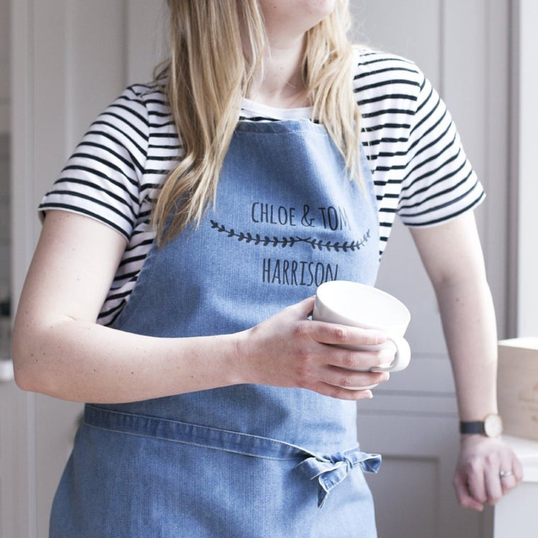 COUPLES DENIM APRON