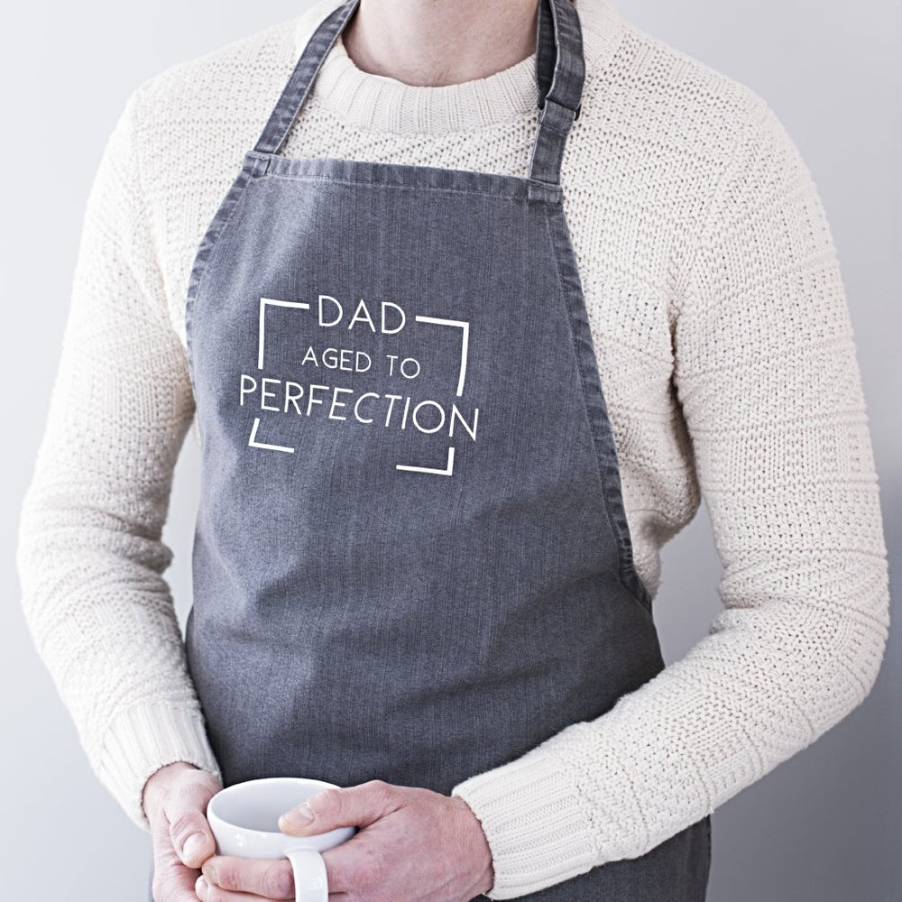 Aged To Perfection Personalised Dads Apron