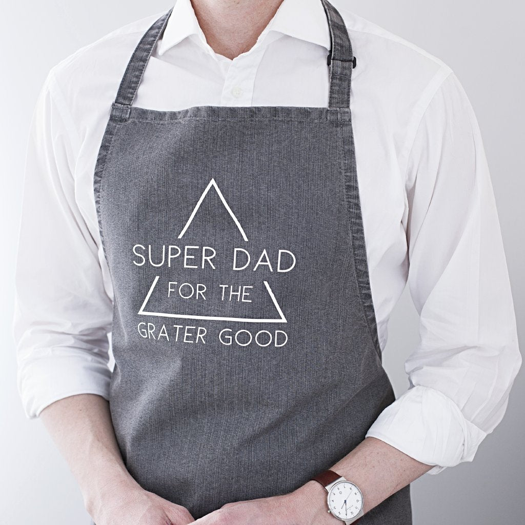 SUPER DAD DENIM APRON-clouds-and-currents