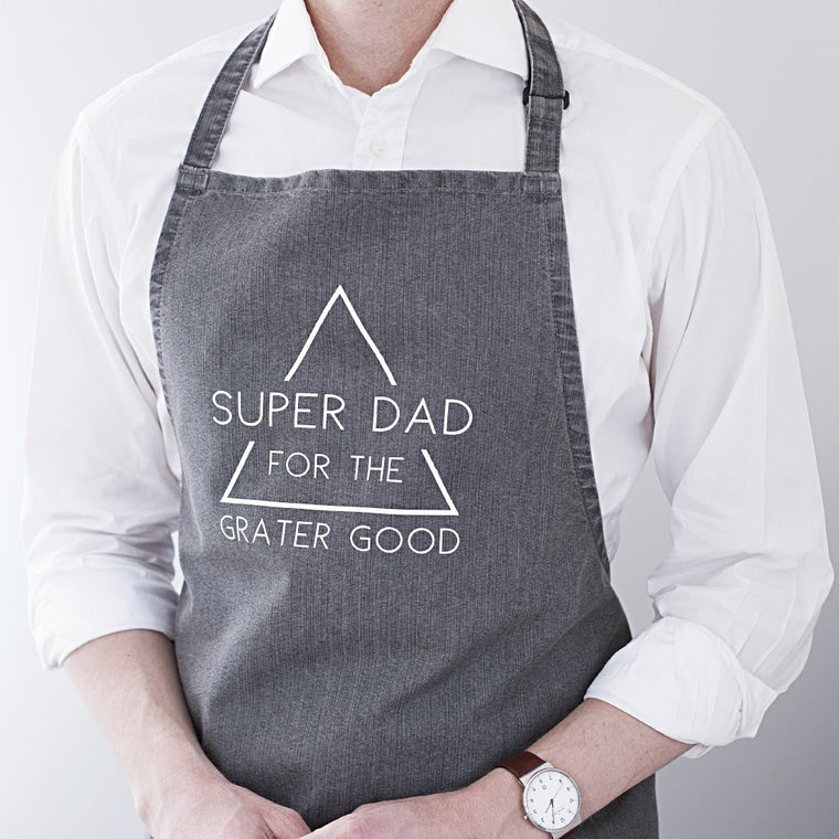 SUPER DAD DENIM APRON