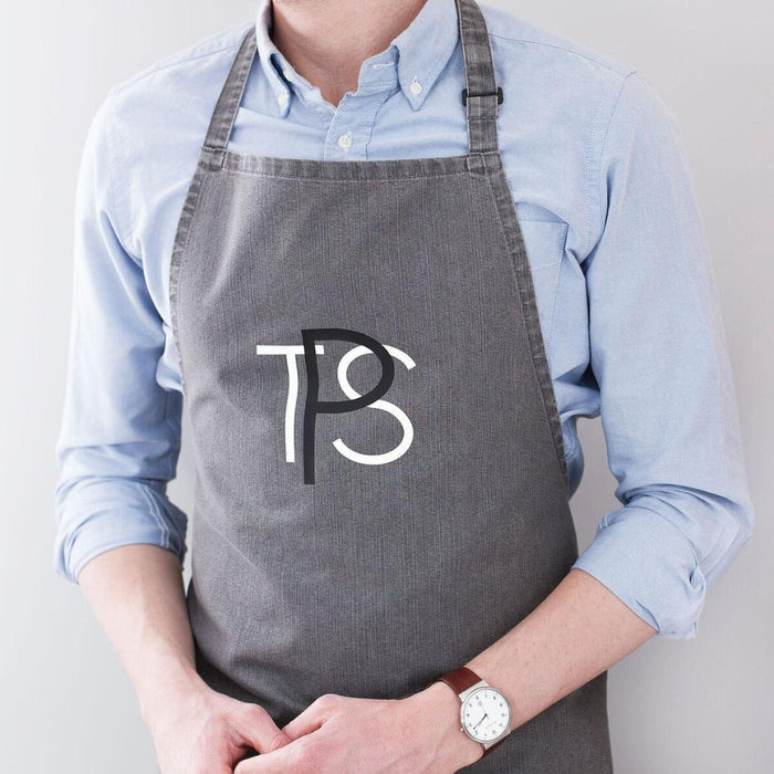 Men's Monogram Denim Apron-clouds-and-currents