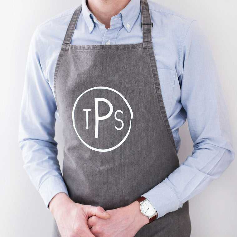 Circular Monogram Apron-clouds-and-currents