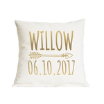 Nursery Date of Birth Cushion