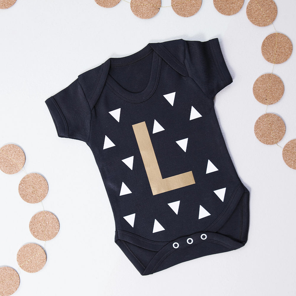 CLEARANCE Initial Baby GrowClouds and Currents