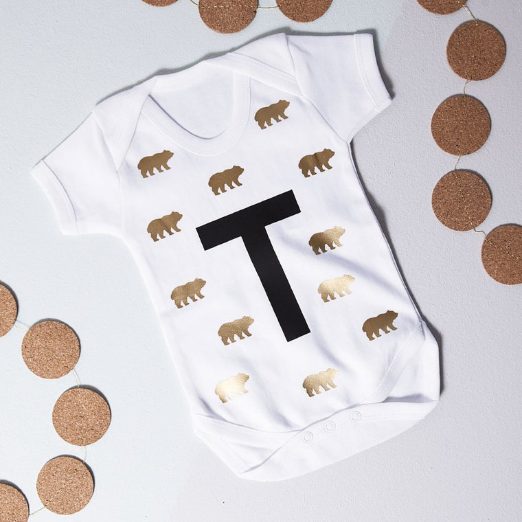BEARS AND INITIAL BABY GROW