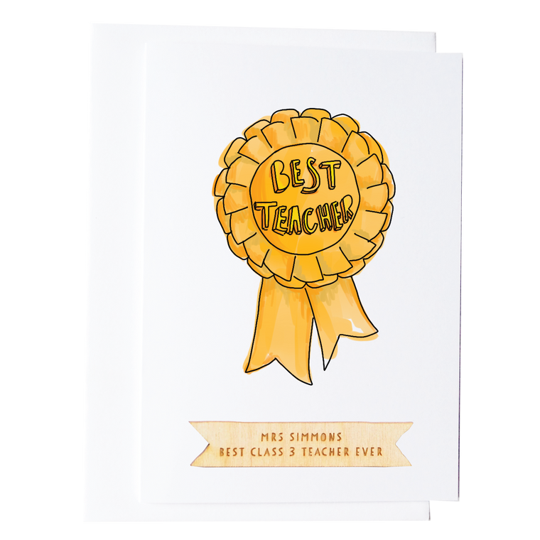 Personalised Best Teacher Thank You Card