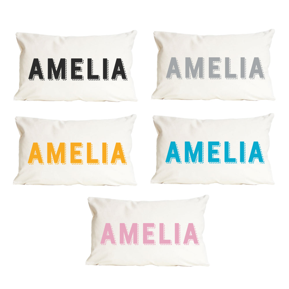 Personalised Name Modern CushionClouds and Currents